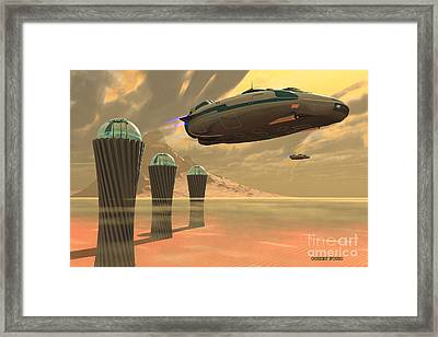 Desert Planet Framed Print by Corey Ford