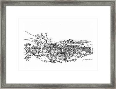 Desert Residence Framed Print by Andrew Drozdowicz
