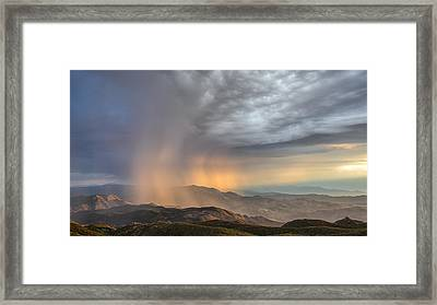 Desert Storm Framed Print by Joseph Smith