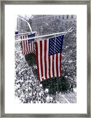 Desert Storm Parade  Nyc Framed Print by Cindy Roesinger