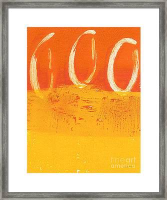 Desert Sun Framed Print by Linda Woods