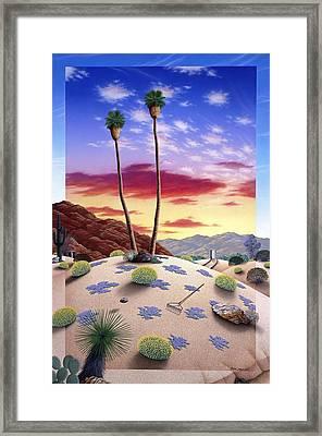 Desert Sunrise Framed Print by Snake Jagger