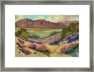 Desert Verbena At Borrego Springs Framed Print by Diane McClary