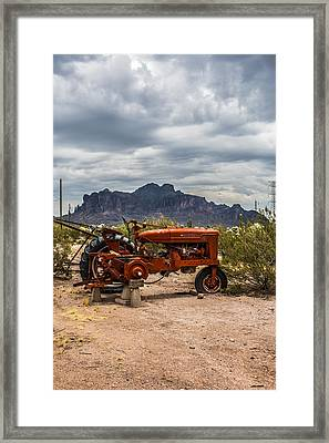 Desert View Framed Print by Chuck Brown