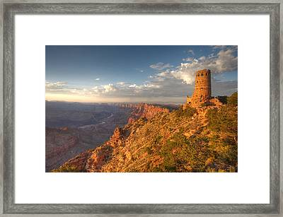 Desert View Watchtower Framed Print by Mike Buchheit