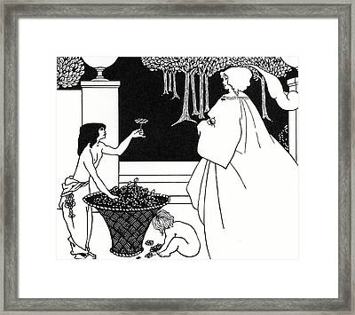 Design For The Yellow Book Framed Print by Aubrey Beardsley