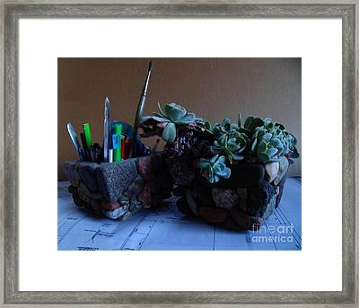 Design Studio Framed Print by The Stone Age