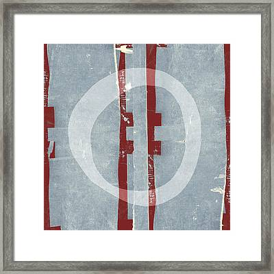 Designer Series Red And Blue 1 Of 11 Framed Print by Carol Leigh