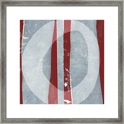 Designer Series Red And Blue 11 Of 11 Framed Print by Carol Leigh
