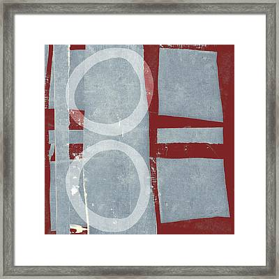 Designer Series Red And Blue 2 Of 11 Framed Print by Carol Leigh