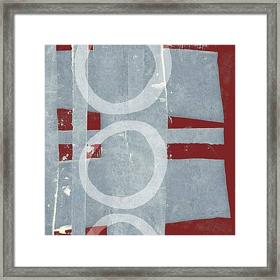 Designer Series Red And Blue 3 Of 11 Framed Print by Carol Leigh