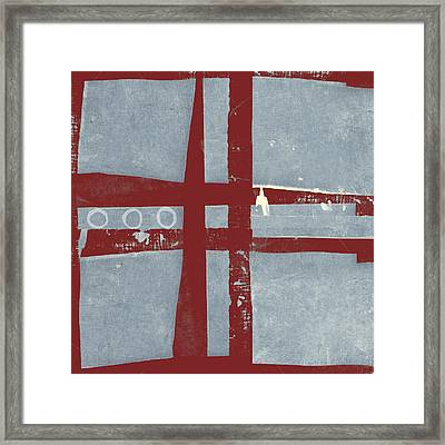 Designer Series Red And Blue 5 Of 11 Framed Print by Carol Leigh