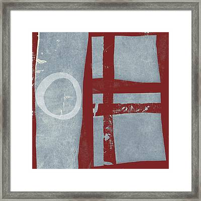 Designer Series Red And Blue 6 Of 11 Framed Print by Carol Leigh