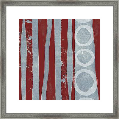 Designer Series Red And Blue 7 Of 11 Framed Print by Carol Leigh