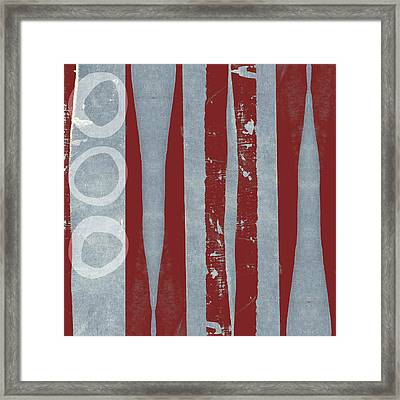 Designer Series Red And Blue 8 Of 11 Framed Print by Carol Leigh