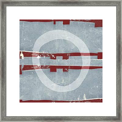 Designer Series Red Blue 4 Of 11 Framed Print by Carol Leigh