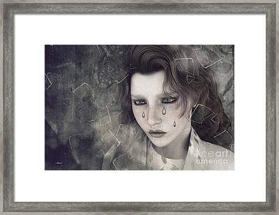 Despair Framed Print by Jutta Maria Pusl