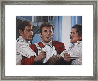 Desperation In His Eyes Framed Print by Kim Lockman