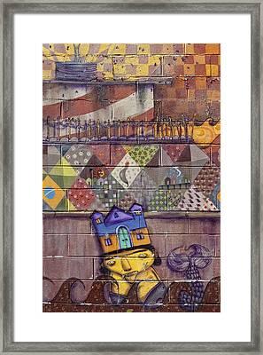 Detail - Mural Coney Island 2 Framed Print by Robert Ullmann