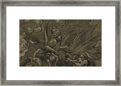 Detail From The Flight Into Egypt Framed Print by Raphael