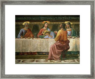 Detail From The Last Supper Framed Print by Domenico Ghirlandaio