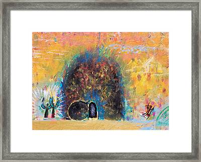 Detail Of Empty Tomb Framed Print by Anne Cameron Cutri
