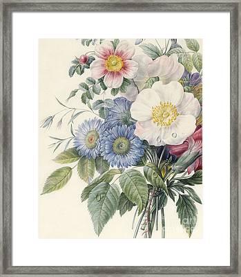 Detail Of Flowers Framed Print by  Eugene A L d'Orleans