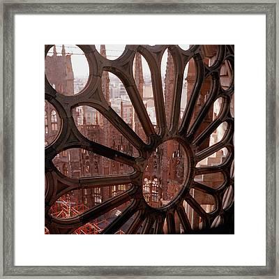 Detail Of La Sagrada Familia, Barcelona, Spain Framed Print by Tobias Titz