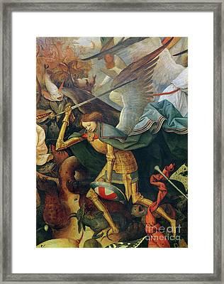 Detail Of The Fall Of The Rebel Angels, 1562 Framed Print by Pieter the elder Bruegel