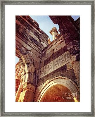 details of Ephesus Framed Print by HD Connelly