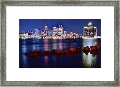 Detroit Alive And Well Framed Print by Frozen in Time Fine Art Photography