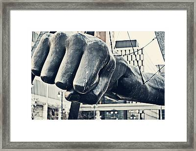 Detroit Joe Louis Fist - Color Framed Print by Alanna Pfeffer