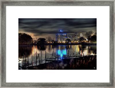 Detroit Reflections Framed Print by Nicholas  Grunas