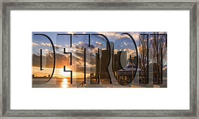 Detroit Sunset  Framed Print by John McGraw