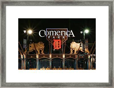 Detroit Tigers - Comerica Park Framed Print by Gordon Dean II