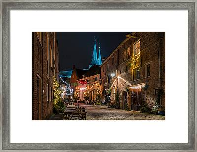 Deventer, Roggestraat Framed Print by Martin Podt