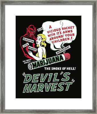 Devil's Harvest Theater Lobby Ad  1942 Framed Print by Daniel Hagerman