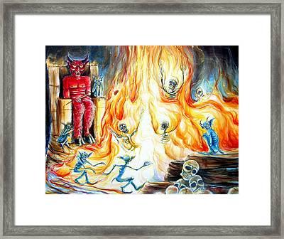 Devil's Inferno II Framed Print by Heather Calderon