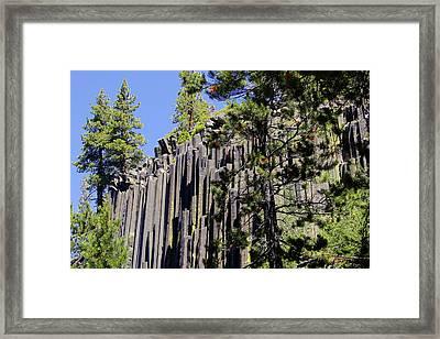 Devils Postpile - America's Volcanic Past Framed Print by Christine Till