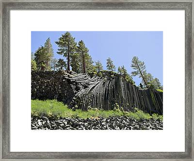 Devil's Postpile - Talk About Natural Wonders Framed Print by Christine Till