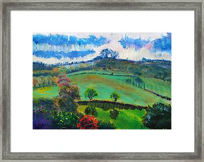 Devon Landscape Painting Framed Print by Mike Jory