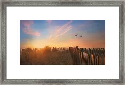 Dewey Sunrise 1 Framed Print by Lori Deiter