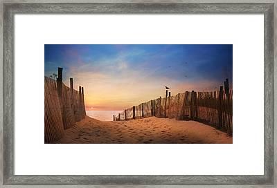 Dewey Sunrise 2 Framed Print by Lori Deiter