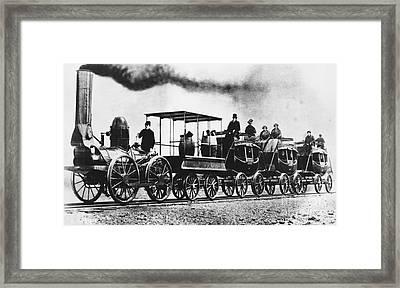 Dewitt Clinton Locomotive Framed Print by Omikron