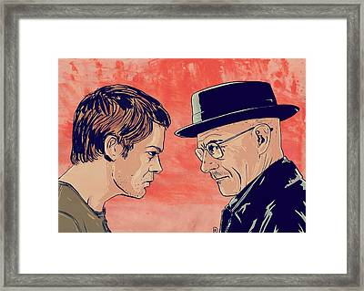 Dexter And Walter Framed Print by Giuseppe Cristiano
