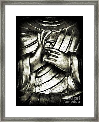 Dharmachakra Mudra Framed Print by Tim Gainey