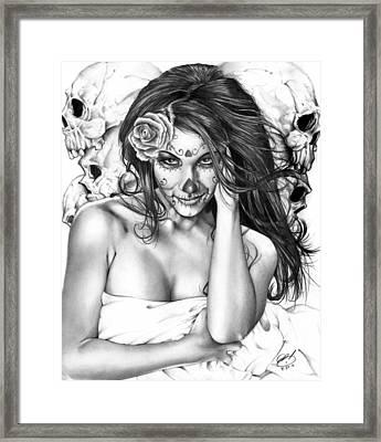 Dia De Los Muertos 2 Framed Print by Pete Tapang