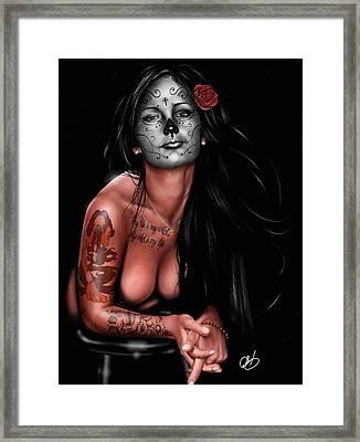 Dia De Los Muertos 4 Framed Print by Pete Tapang