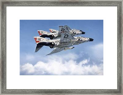 Diamonback Echelon Framed Print by Peter Chilelli