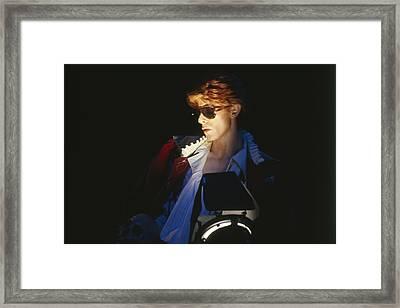 Diamond Dog Tour Framed Print by Terry O'Neill
